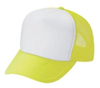 amazon com neon mesh trucker hat cap neon green clothing