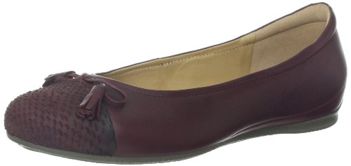Ecco Dames Engel Strik Platte Bordeaux