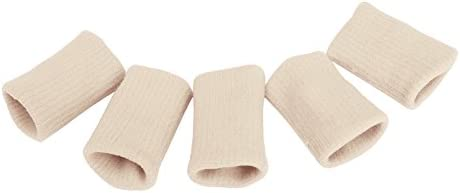 TRIXES 10x Finger Protector Sleeve Muscle Warming Stretchy Support Sports Aid Beige