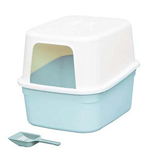 - DSHBB Cat Litter Box,Waste Sand Storage Box Design,Pet Cat Litter Tray Toilet Box,cat Litter Tray With Lid,cat Litter Trays-self Cleaning (Color : Blue)