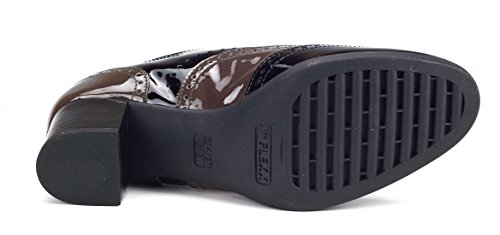 Gris Booke Noir Talon Flexx Et The Logen Femme Chaussure CS181f