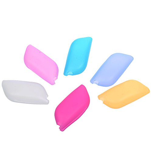 COSMOS Pack of 6 Reusable Portable Silicone Toothbrush Covers Case Holder for Home Outdoor Travel and Camping ()