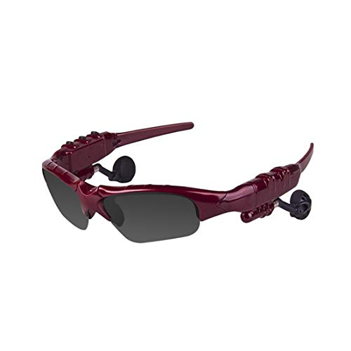 COFFEE CAT Glasses Bluetooth Sunglasses Wireless V4.1 Stereo Hands-Free Bluetooth Headset Foldable Polarized Lenses Anti-Ultraviolet Outdoor Sports Bike
