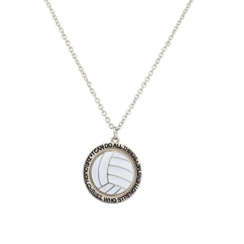 (Lux Accessories Volleyball I Can Do All Things Through Jesus Christ Who Strengthens Me Sport)