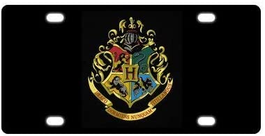 Stylish Design Car Front License Plate Aluminum License Plate Cover Harry Potter Pattern Auto Tag Frame 6 X 12