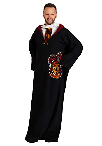 "Warner Brothers Harry Potter, ""Hogwarts Rules"" Adult Comfy Throw Blanket with Sleeves, 48"" x 71"", Multi Color"