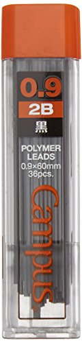 Kokuyo Campus Mechanical Pencil Lead, 0.9mm, 2B (PSR-C2B9N)