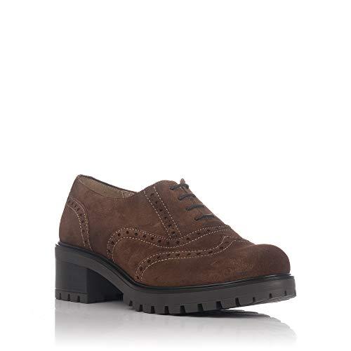83253 Cordones Ante LINCE Zapato Castaña Mujer qOTUxOwdnz