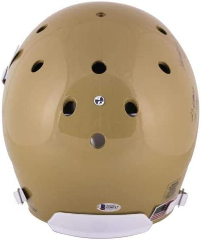 Beckett Authentication Notre Dame Rudy Ruettiger Signed Full Size Rep Helmet w//Hand Drawn Play BAS