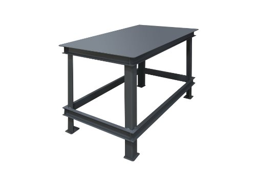 (Durham Steel Extra Heavy Duty Machine Table, HWBMT-367234-95,  1 Shelves,  14000 lbs Capacity,  36