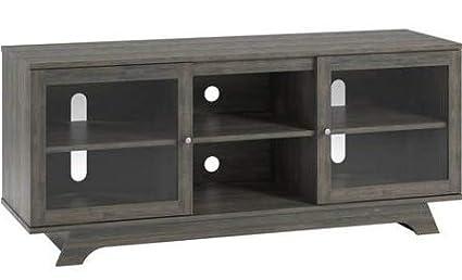 Amazon.com: Mueble de mesa con soporte para TV - Puerta de ...