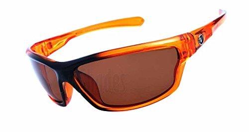 Nitrogen Polarized Sunglasses Mens Sport Running Fishing Golfing Driving Glasses-Orange by auija