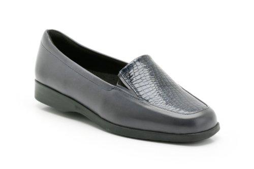 Clarks Ladies K's by Slip On Heeled Shoes Georgia Lee Navy (Blue) DOih7