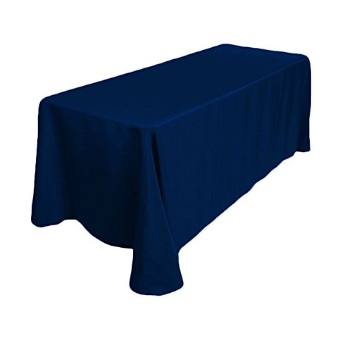 GFCC 100% Polyester Tablecloth Rectangular Tablecloth from USA (Navy Blue, (100% Polyester Table)