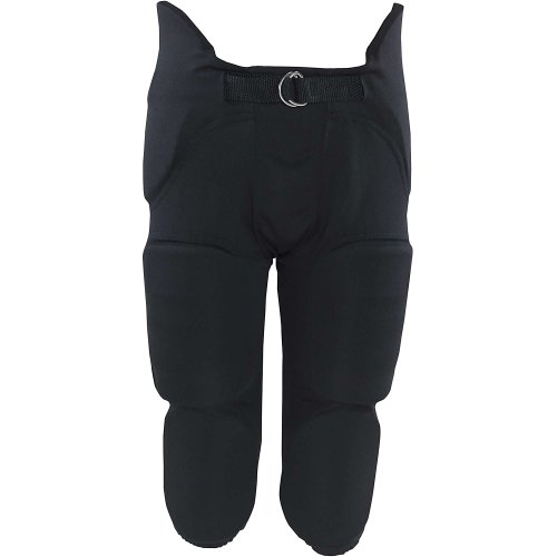 Russell Youth Integrated 7 Piece Pad Economy Football Pants - Black-XL (7 Piece Pad)