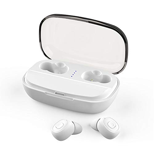 Bluetooth Earbuds for iPhone 11, elecfan Wireless Earphones Stereo Bass Music Earphones with Microphone & Charging Box…