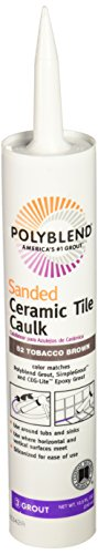 CUSTOM BLDG PRODUCTS PC5210S-6 10.5-Ounce Brown Tile Caulk by Custom Building Products
