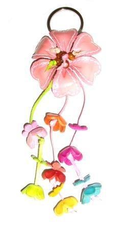 Tribu Color Rosa Flor de Piel Bolso Encanto/Llavero: Amazon ...