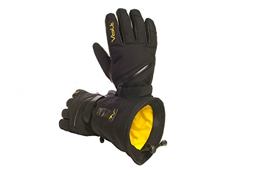 Volt Heated snow gloves, Black, Medium