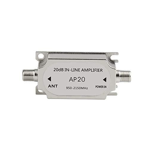 Satellite 20dB in-line Amplifier Booster 950-2150MHZ Signal Booster for Dish Network Antenna Cable Run Channel Strength