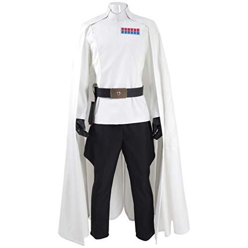 Fancycosplay Mens Battle Uniform White Cloak Full Set Cosplay Costume -