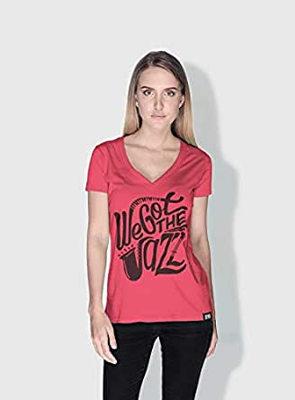 Creo We Got The Jazz Trendy T-Shirts For Women - L, Pink
