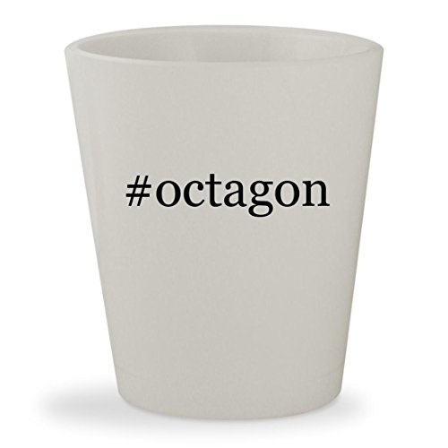 #octagon - White Hashtag Ceramic 1.5oz Shot Glass (Grill Table Octagon)
