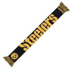 Wordmark Scarf (NFL Pittsburgh Steelers 2014 Wordmark Scarf, Black)