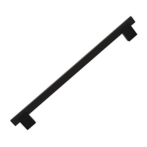 "10 Pack Rok Hardware 10-1/8"" (256mm) Center Matte Black Kitchen Cabinet Drawer Door Handle Pull 11-3/8"" (288mm) Length"