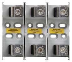 JM60200-3CR - Fuseholder, Fuse Block, 600V, 200A, Class J, Box Lugs, 3 Pole by EATON BUSSMANN SERIES