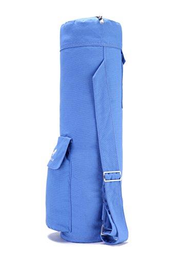 SNOWHALE Yoga Mat Bag Full-Zip Cargo Pocket Yoga Bag (Blue)