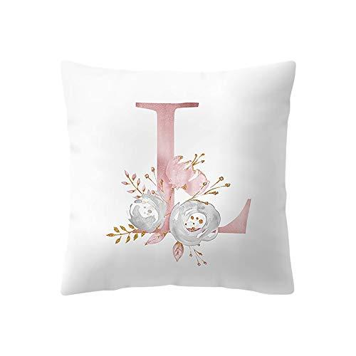 VEFSU 45x45 cm Kids Room Decoration Letter Throw Pillow English Alphabet Pillowcases Cushion Pillow]()