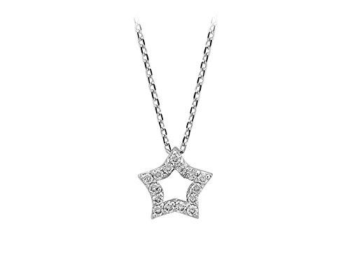Pendentif Etoile Diamants-Femme- or Blanc 214P0005