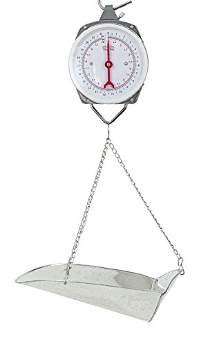 HKD-Pro 22lb 10kg Hanging Dial Scale with Basket Scoop (Scale Scoop)