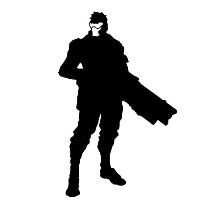 Amazon Com Overwatch Video Game Soldier 76 Silhouette Vinyl