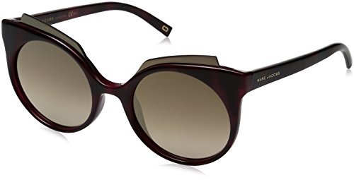 Marc Jacobs Women's Marc105s Round Sunglasses, Red Havana/Brown Ss Bronze, 53 - Marc Sunglasses Red Jacobs