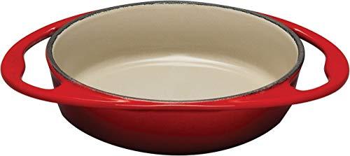- Le Creuset L2129-2567 Enameled Cast Iron Tatin Dish, 2 quart, Cherry Red