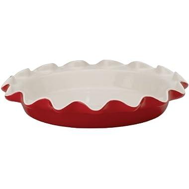 Rose Levy Beranbaum's Perfect Pie Plate, 9-Inch, Ceramic, Rose