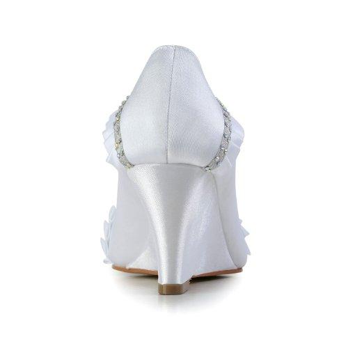 Jia Jia Wedding 1217510 chaussures de mariée mariage Escarpins pour femme blanc, EU 40