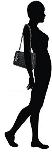 Avec rigide 10 Galon 28 X Cuir Porte Bandoulière Sac Et clés Paris 20 Cm Porté Chaîne Co Crocodile Imprimé À e Simili l Matelassé Flora Noir Épaule Semi amp; Etoile q7wOx7aA