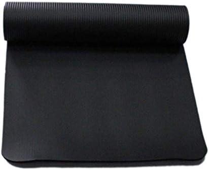 Yoga mat 10ミリメートルノンスリップヨガマット品質座っアップフィットネスマット(ブラック) workout