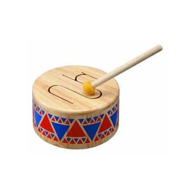 Plan Toys Wooden Toys - Solid Wooden Toy Drum: Toys & Games