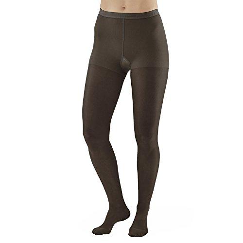 (Ames Walker Women's AW Style 33 Sheer Support Closed Toe Compression Pantyhose - 20-30 mmHg Black Medium 33-M-BLACK Nylon/Spandex)