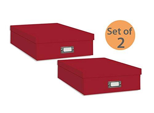 Pioneer Jumbo Scrapbook Storage Box, Red (Set of 2)