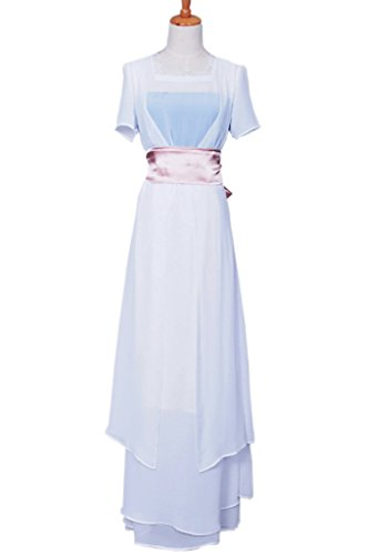 Titanic Costumes For Halloween - FancyStyle Titanic Cosplay Rose Costume Swim Gown Dress White Female L