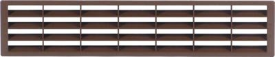Ventilation Grill 400mm x 83mm for Recess Mounting Over 200cm2 Ventilation Area (White) City Deco Centre