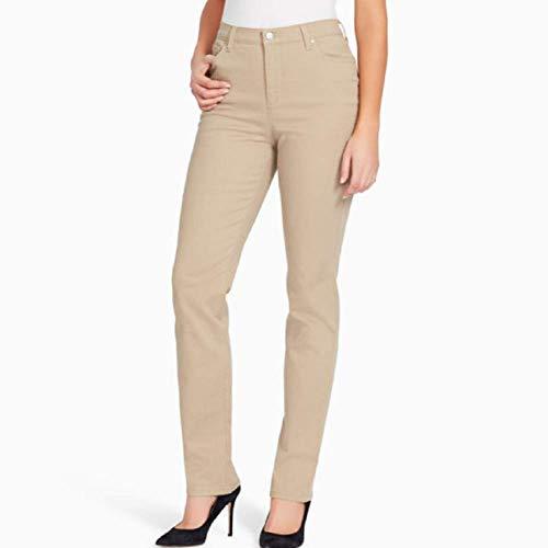 Gloria Vanderbilt Women's Petite Anita Straight Leg Pant, Perfect Khaki 12P