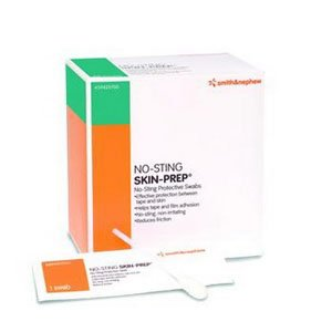 - No-sting SKIN-PREP Protective Swabs [Box of 50]