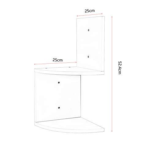 Étagère murale Etagère Livres étagère en zigzag 2 tablettes Blanc rg9312ws