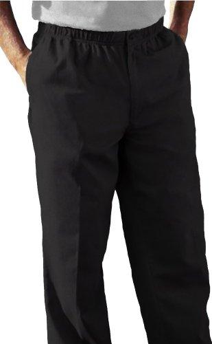 Falcon Bay Full Elastic Waist Casual Twill Pant  Black 48 X 30